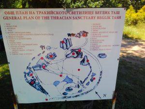 Беглик Таш - Карта на Светилището